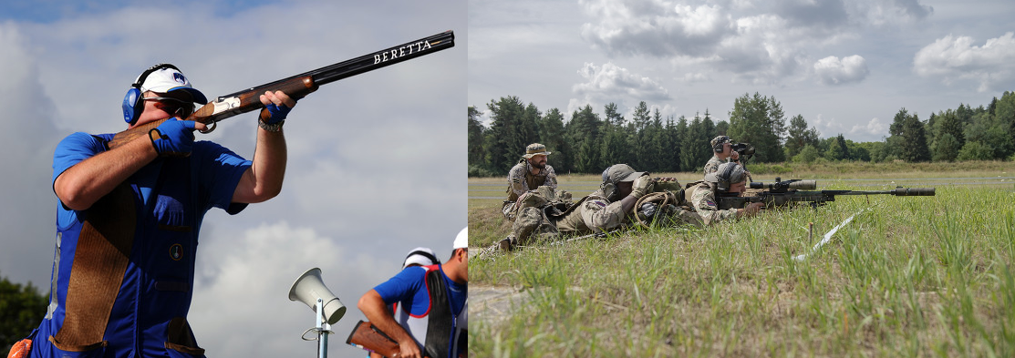 Uspešen strelski vikend (source of the image on the left: Lars Baron/Getty Images Europe; author of the image on the right: Kevin S. Abel, U. S. Army Photo)